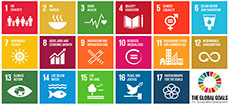 Logos of the United Nations 17 sustainable development goals