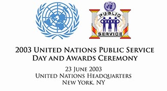 2003 United Nations Public Service Day and Awards