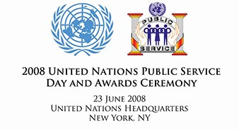 2008 United Nations Public Service Day and Awards Ceremony