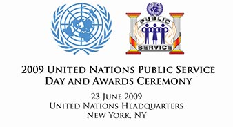 2009 United Nations Public Service Day and Awards Ceremony